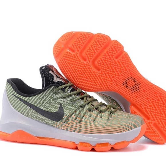 b1ed3569ed26 Nike Mens KD 8 Lunar Grey Sequoia shoes